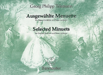 Selected Minuets: Descant Recorder and Piano (Barenreiter)