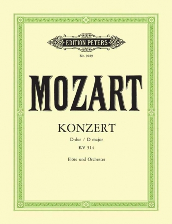 Concerto D Major Kv314: Flute & Piano (Peters)