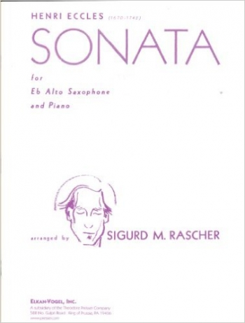 Sonata G Minor:  Alto Sax & Piano (Presser)