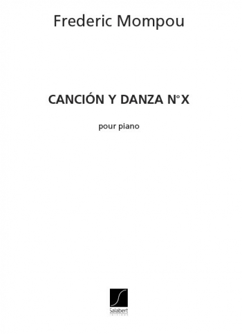 Cancion Y Danza: No.10: Piano