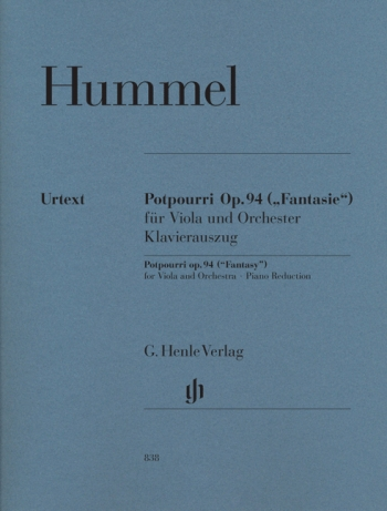 Potpourri (Fantasie): Op 94: Viola and Piano