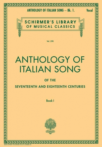Anthology Of Italian Song: Book 1: 17th & 18th Centuries:Vocal