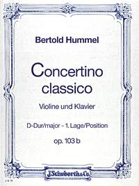 Concertino Classico: D Major: Op103B: Violin and Piano