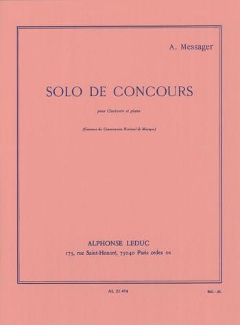 Solo De Concours: Clarinet & Piano (Leduc)
