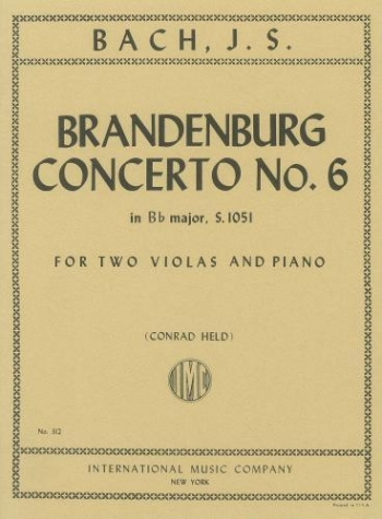 Brandenburg Concerto No6: 2 Violas And Piano