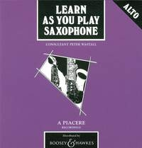Learn As You Play Alto Saxophone: Cd Only