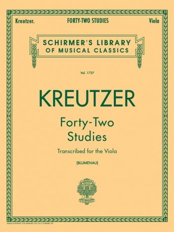 42 Studies: Viola (Blumenau) (Schirmer)