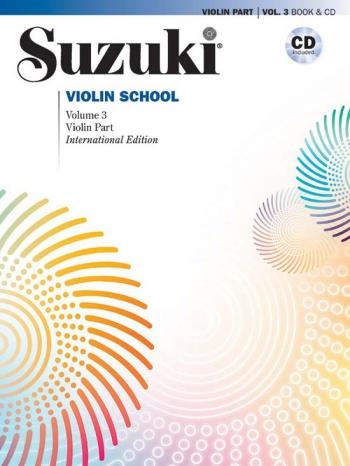 Suzuki Violin School Vol.3 Violin Part Book & Cd (Revised)