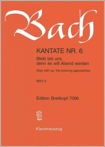 Cantata No 6: Vocal Score (Breitkopf)