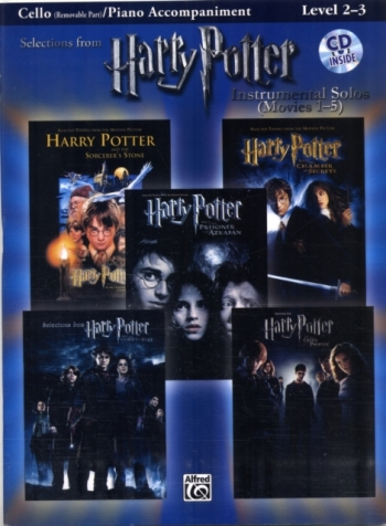 Selections From Harry Potter: Cello Piano Accompaniment: Instrumental Solos  Book & Cd