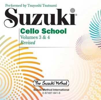 Suzuki Cello School Vol. 3 & 4 CD Only