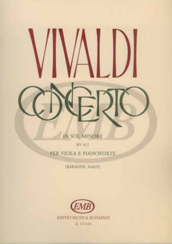 Concerto: G Minor: Viola and Piano