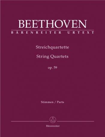 Beethoven: String Quartets: Op59: Critcal Score: Urtext