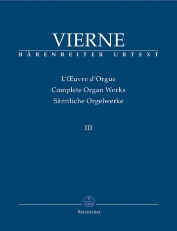 Complete Organ Works: Vol 3 (Barenreiter)