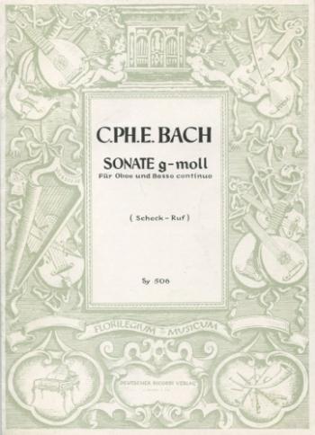 Sonata: G Minor Wq135: Oboe & Piano