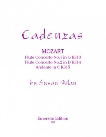 Cadenzas To Mozarts Flute Concertos (Emerson)
