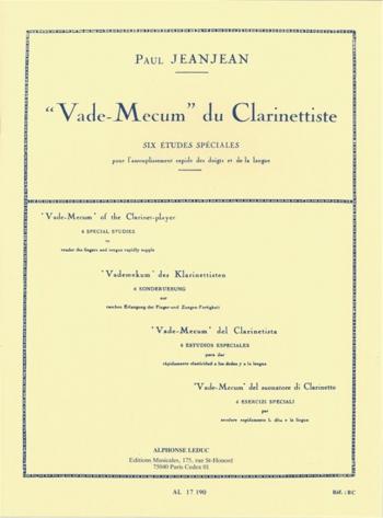 Vade Mecum: Six Etudes Speciales: Clarinet Solo (Leduc)