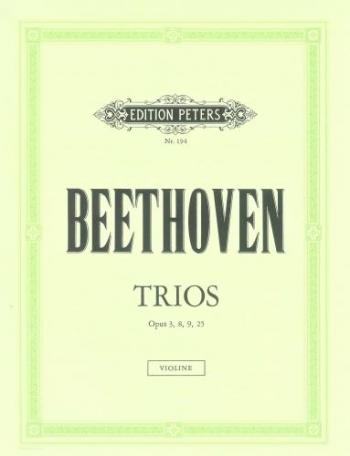 Trios: String Trio OP3, 8, 9, 25.- Parts