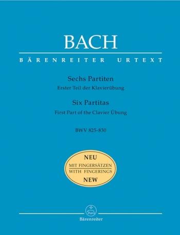 Partitas: No.1-6: Bwv825-Bwv830: New Fingering: Piano  (Barenreiter)