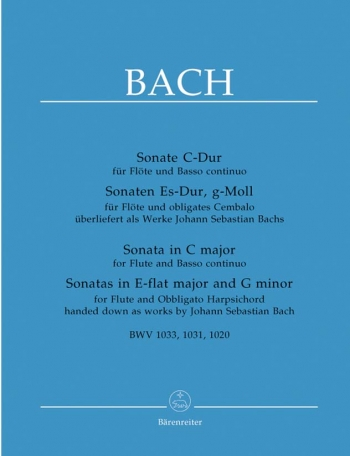 3 Flute Sonatas: Bwv1033-1031-1020: Flute & Piano (Barenreiter)