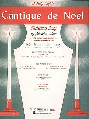 Cantique De Noel: High Voice In Eb & Piano: French & English (Schirmer)