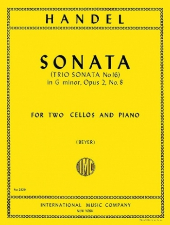 Trio Sonata No.6 G Minor Op2: Violoncello: 2 cellos (International)