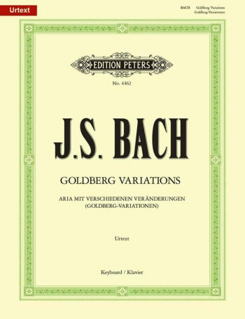 Goldberg Variations: Piano (Peters)