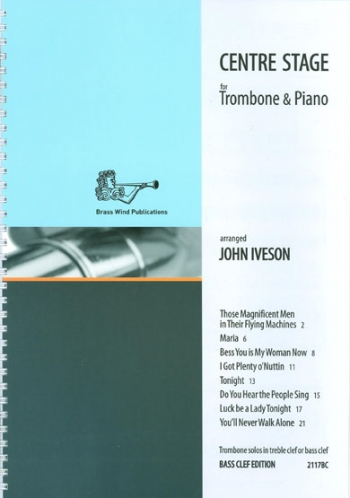 Centre Stage: Trombone Bass Clef & Piano