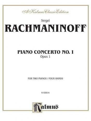 Concerto No 1 Op1: 2 Pianos 4 Hands (Kalmus)