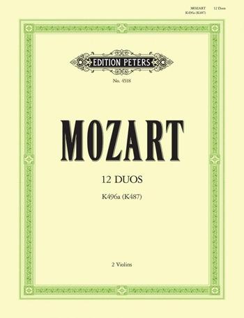 Mozart: 12 Duos: K496a (K487):  2 Violins