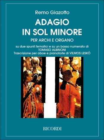 Adagio In G Minor: Oboe & Piano (Ricordi)