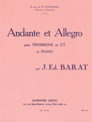 Andante Et Allegro: Trombone And Piano (Leduc)