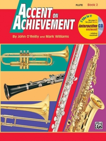 Accent On Achievement: 2: Flute: Book And CD