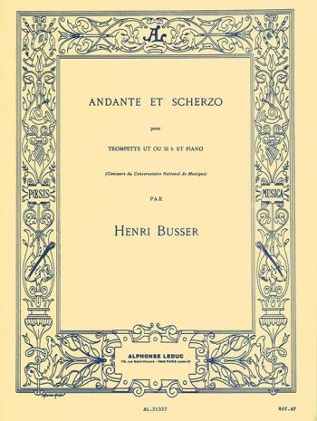 Andante & Scherzo: Trumpet & Piano (Leduc)