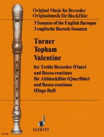 3 Sonatas Of The English Baroque By Turner Topham and Valentine: Treble and Basso Continuo
