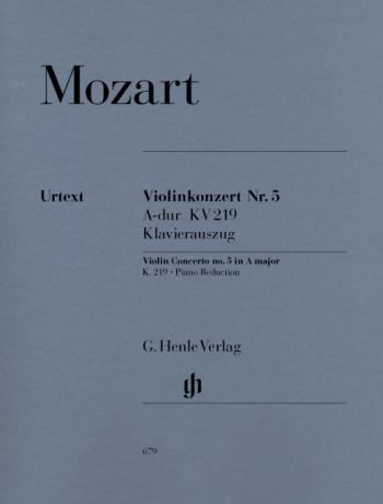 Violin Concerto No.5 A Major Kv219: Violin & Piano (Henle)