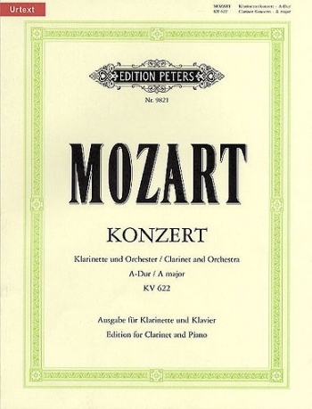 Clarinet Concerto: A Major: K622: A Clarinet & Piano ( Backing Cd Included): Book & CD (Pe