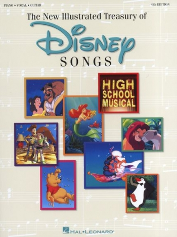Illustrated Treasury Of Disney Songs: Piano Vocal Guitar