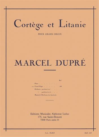 Cortege Et Litanie: Organ