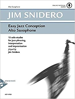 Easy Jazz Conception: Alto Sax Book & Cd (snidero) (Advance)