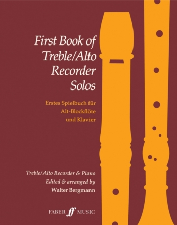First Book Of Treble Recorder Solos: Recorder and Piano