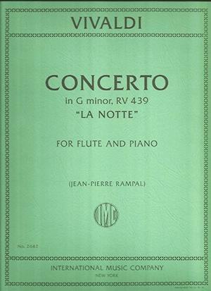 Concerto: La Notte G Minor: Flute & Piano (International)