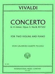 Violin Concerto A Minor Op.3/8: Rv522: 2 Violins & Piano (International)