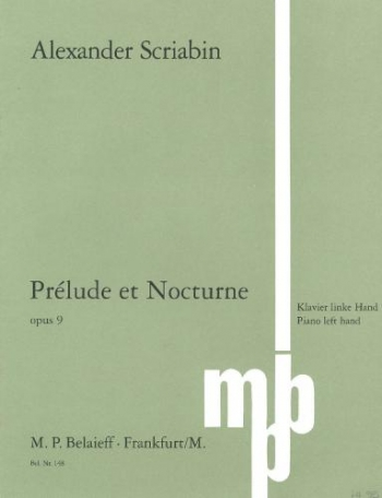 Prelude In C# Minor And Nocturne In Db Op.9: Left Hand: Piano (Belaieff)