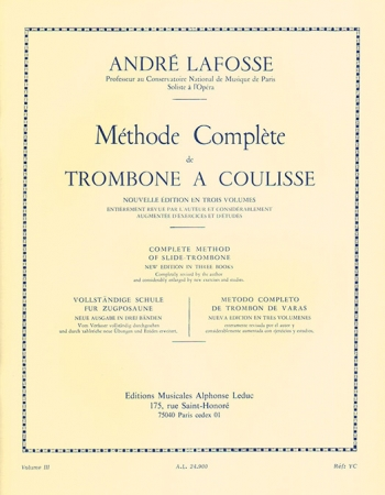 Methode Complete For Trombone Volume III (Leduc)