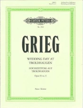 Wedding Day At Troldhaugen: Op.65 No.6: Piano (Peters)