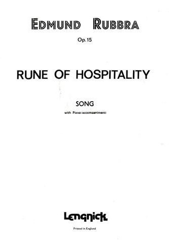 Rune Of Hospitality: Vocal Solo