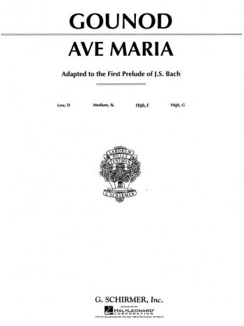 Gounod: Ave Maria: F Major: High Voice: Solo Song  (Schirmer)