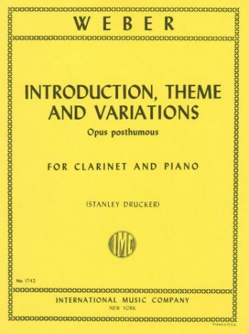 Introduction Theme & Variations: Clarinet & Piano (International)