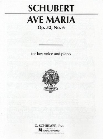 Ave Maria: Gmajor: Low Voice: Solo Song